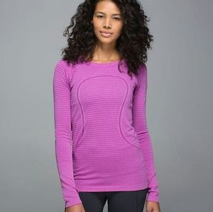 Lululemon Swiftly Tech LongSleeve Purple Top